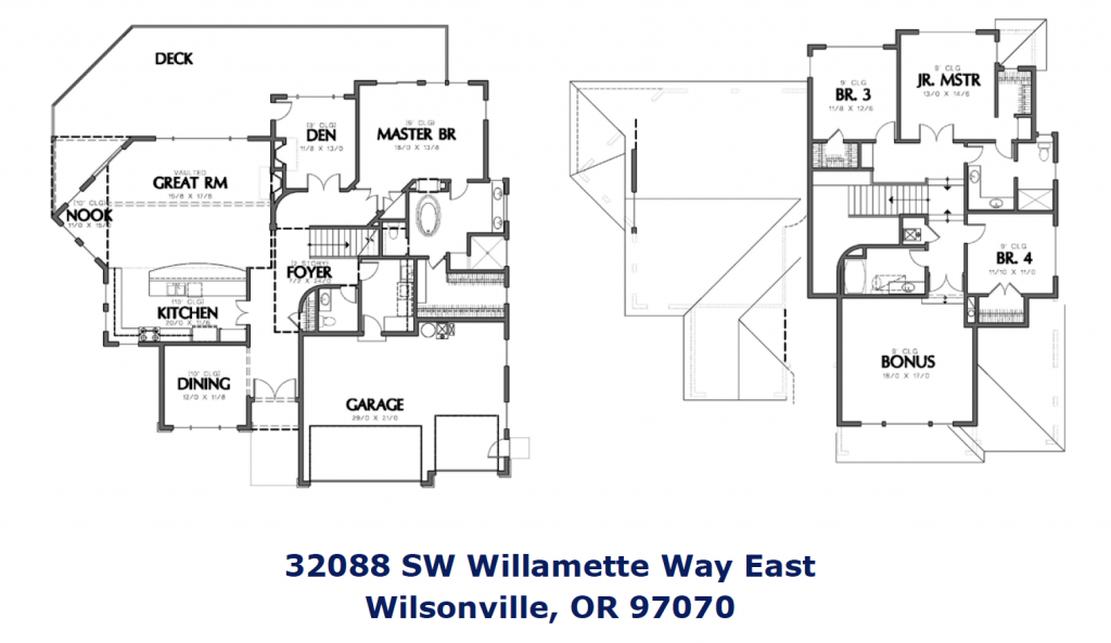 Wilsonville riverfront homes for Riverfront house plans